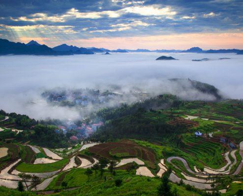 Bergterassen Himmel Chi Gong